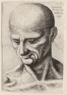 Unknown man, by Wenceslaus Hollar, after  Leonardo da Vinci - NPG D9969