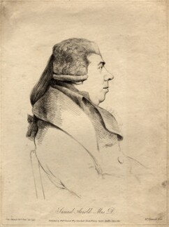 Samuel Arnold, by and published by William Daniell, after  George Dance, published 1 July 1812 (25 January 1795) - NPG D999 - © National Portrait Gallery, London