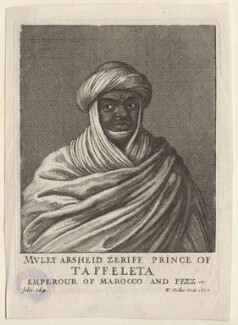 Mulai Al-Rashid ('Muley Arsheid Zeriff, Prince of Taffeleta'), by, , Wenceslaus Hollar - NPG D9996