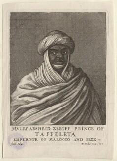 Muley Arsheid Zeriff, by Wenceslaus Hollar, 1670 - NPG D9996 - © National Portrait Gallery, London