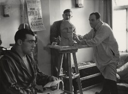 Primo Carnera and sculptor, by Howard Coster - NPG x10283