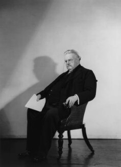 G.K. Chesterton, by Howard Coster - NPG x10513
