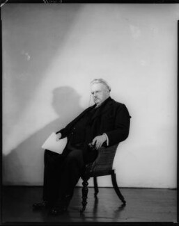 G.K. Chesterton, by Howard Coster - NPG x10515