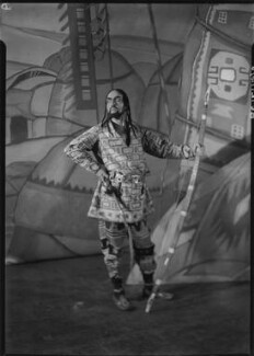 Fedor Ivanovitch Chaliapin as Khan Konchak in 'Prince Igor', by Howard Coster - NPG x10644