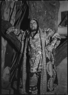 Fedor Ivanovitch Chaliapin as Khan Konchak in 'Prince Igor', by Howard Coster - NPG x10647