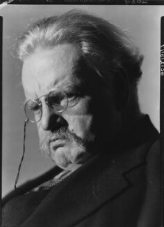 G.K. Chesterton, by Howard Coster - NPG x10752