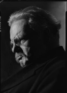 G.K. Chesterton, by Howard Coster - NPG x10753