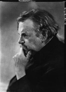 G.K. Chesterton, by Howard Coster, 1926 - NPG x10758 - © National Portrait Gallery, London