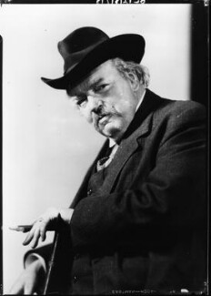 G.K. Chesterton, by Howard Coster - NPG x10763