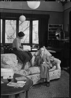 George Douglas Howard Cole; Dame Margaret Isabel Cole, by Howard Coster, 1938 - NPG x10860 - © National Portrait Gallery, London