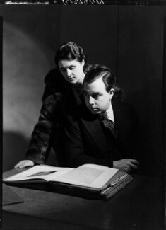 Mary Wyndham Lewis; J.B. Priestley, by Howard Coster - NPG x13529