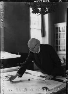 Sir Edwin Lutyens, by Howard Coster, 1942 - NPG x14400 - © National Portrait Gallery, London