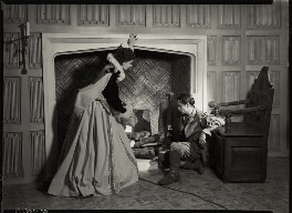 Vivien Leigh as Cynthia and Laurence Kerr Olivier, Baron Olivier as Michael Ingolby in 'Fire Over England', by Howard Coster - NPG x19529
