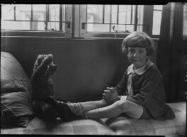 Christopher Robin Milne with Pooh Bear, by Howard Coster, 1926 - NPG x19581 - © National Portrait Gallery, London