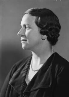 Dame Caroline Harriet Haslett, by Howard Coster - NPG x20905