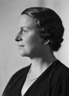 Dame Caroline Harriet Haslett, by Howard Coster - NPG x20909