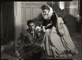 Laurence Kerr Olivier, Baron Olivier as Michael Ingolby and Vivien Leigh as Cynthia in 'Fire over England', by Howard Coster - NPG x23963