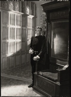 Laurence Kerr Olivier, Baron Olivier as Michael Ingolby in 'Fire over England', by Howard Coster - NPG x23972