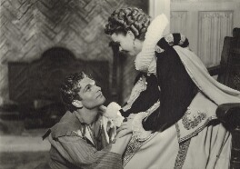Laurence Olivier; Vivien Leigh as Michael Ingolby and Cynthia in 'Fire Over England', by Howard Coster - NPG x24290