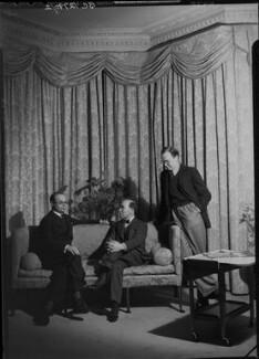 John Rothenstein; Sir William Rothenstein; Michael Rothenstein, by Howard Coster, 1939 - NPG x24375 - © National Portrait Gallery, London