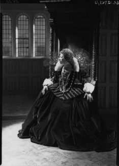 Flora Robson as Queen Elizabeth in 'Fire over England', by Howard Coster - NPG x24791