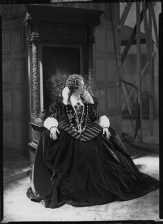 Flora Robson as Queen Elizabeth in 'Fire over England', by Howard Coster - NPG x24792