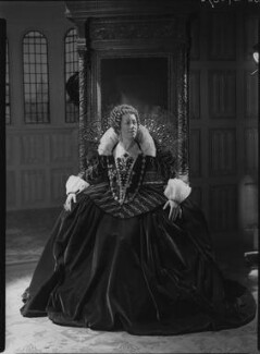 Flora Robson as Queen Elizabeth in 'Fire over England', by Howard Coster - NPG x24793