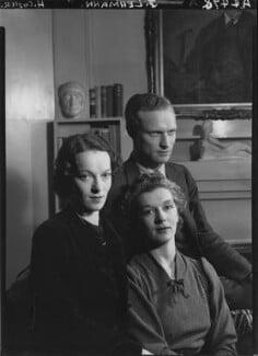 (Rudolph) John Frederick Lehmann; Beatrix Lehmann; Rosamond Nina Lehmann, by Howard Coster - NPG x24885