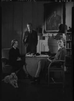 (Rudolph) John Frederick Lehmann; Beatrix Lehmann; Rosamond Nina Lehmann, by Howard Coster - NPG x24886