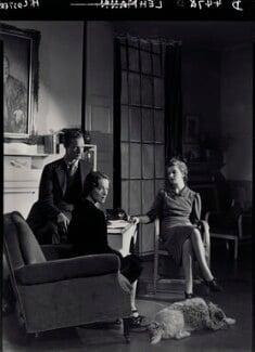 (Rudolph) John Frederick Lehmann; Beatrix Lehmann; Rosamond Nina Lehmann, by Howard Coster - NPG x24888
