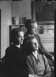 Beatrix Lehmann; Rosamond Nina Lehmann; (Rudolph) John Frederick Lehmann, by Howard Coster - NPG x24891