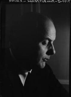 Sir John Betjeman, by Howard Coster, 1953 - NPG x25957 - © National Portrait Gallery, London