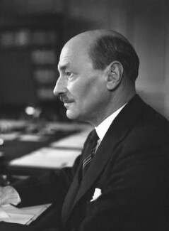 Clement Attlee, by Howard Coster - NPG x2611