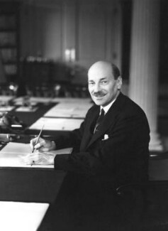 Clement Attlee, by Howard Coster - NPG x2612