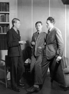 W.H. Auden; Christopher Isherwood; Stephen Spender, by Howard Coster - NPG x2947