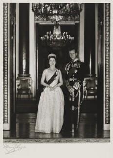Queen Elizabeth II; Prince Philip, Duke of Edinburgh, by Anthony Buckley - NPG x76298