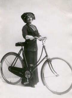 Ellaline Terriss with bicycle, by Bassano Ltd - NPG x83487