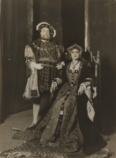 Wilfred Walter as Henry VIII; Florence Saunders as Queen Katherine, by Bassano Ltd - NPG x83518