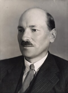 Clement Attlee, by Bassano Ltd - NPG x83557