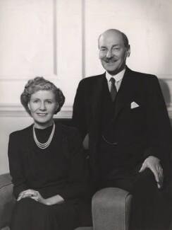 Violet Helen (née Millar), Countess Attlee; Clement Attlee, by Bassano Ltd, 1946 - NPG x83560 - © National Portrait Gallery, London