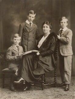Donald Maclean; Ian Lockarbie Maclean; Gwendolen Margaret (née Devitt), Lady MacLean; Andrew Ewen Maclean, by Bassano Ltd - NPG x83711