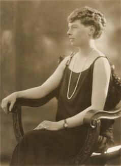 Barbara Miller (née Lowther), by Bassano Ltd - NPG x83777