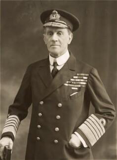 Sir Cecil Burney, 1st Bt, by Bassano Ltd - NPG x83984