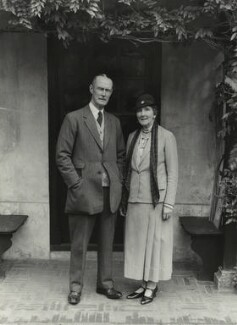 Sir Alexander John Godley; Louisa Marion (née Fowler), Lady Godley, by Bassano Ltd - NPG x84276