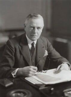 Sir (Collingwood) George Clements Hamilton, 1st Bt, by Bassano Ltd - NPG x84337