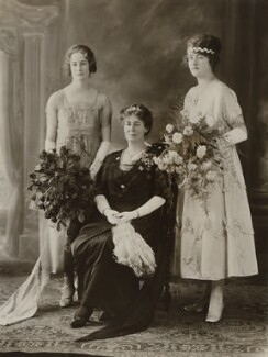 Moira Veronica Loram; Hilda Mary (née Hodgson), Lady Shakerley; Sylvia Mary Chew, by Bassano Ltd - NPG x84726