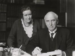 Kathleen (née Harvey), Viscountess Simon; John Allsebrook Simon, 1st Viscount Simon, by Bassano Ltd - NPG x84770