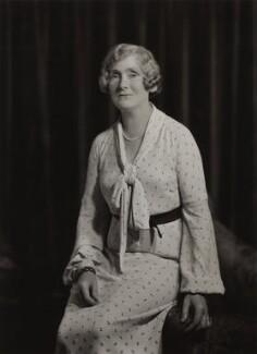 Christine Emily (née Board), Lady Vincent, by Bassano Ltd - NPG x84981