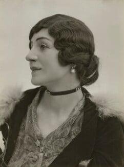 Lydia Yavorska (née Hubbenet, later Lady Pollock), Princess Bariatinsky, by Bassano Ltd - NPG x85076