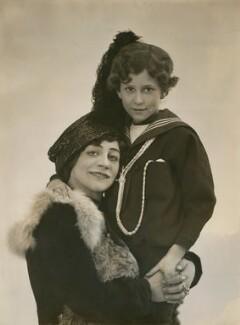 Lydia Yavorska (née Hubbenet, later Lady Pollock), Princess Bariatinsky with child, by Bassano Ltd - NPG x85077